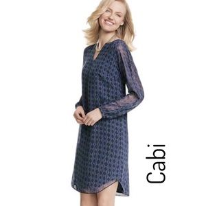 Cabi #3102 Harlequin Long Sleeve Shift Dress • Med